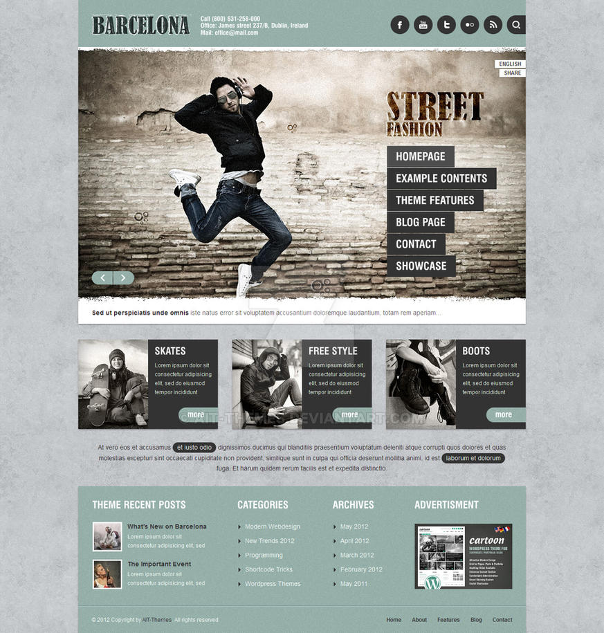 Barcelona: Customizable Universal Wordpress Theme by ait-themes