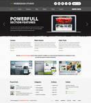 Barcelona WP Theme - Webdesign Showcase Example