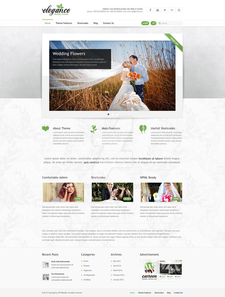 Elegance: Clean and Modern Wordpress Theme by ait-themes