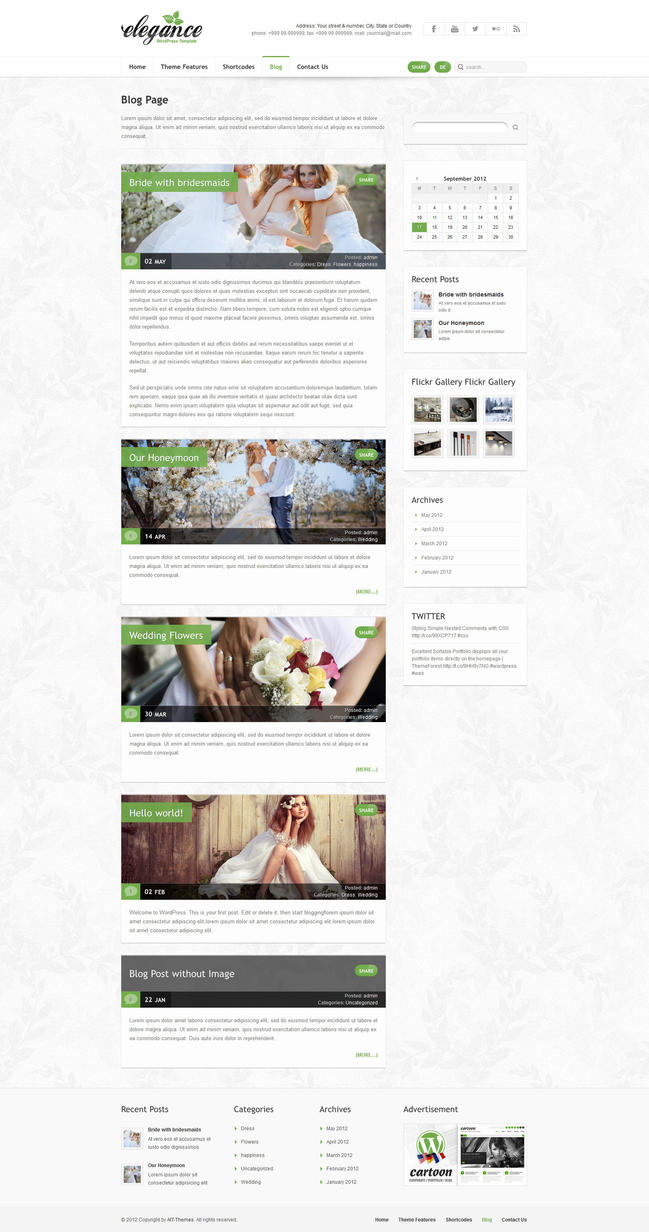 Blog Page - Elegance Wordpress Theme by ait-themes