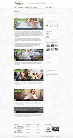Blog Page - Elegance Wordpress Theme