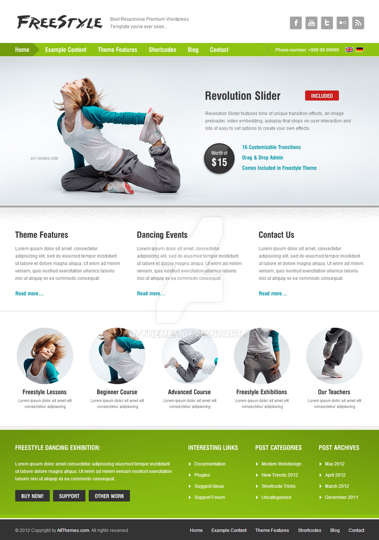Responsive, Parallax Slider by ait-themes