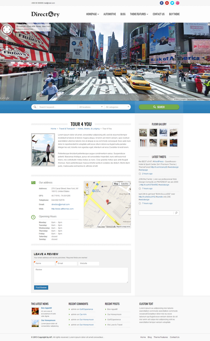 Street View in Header by ait-themes
