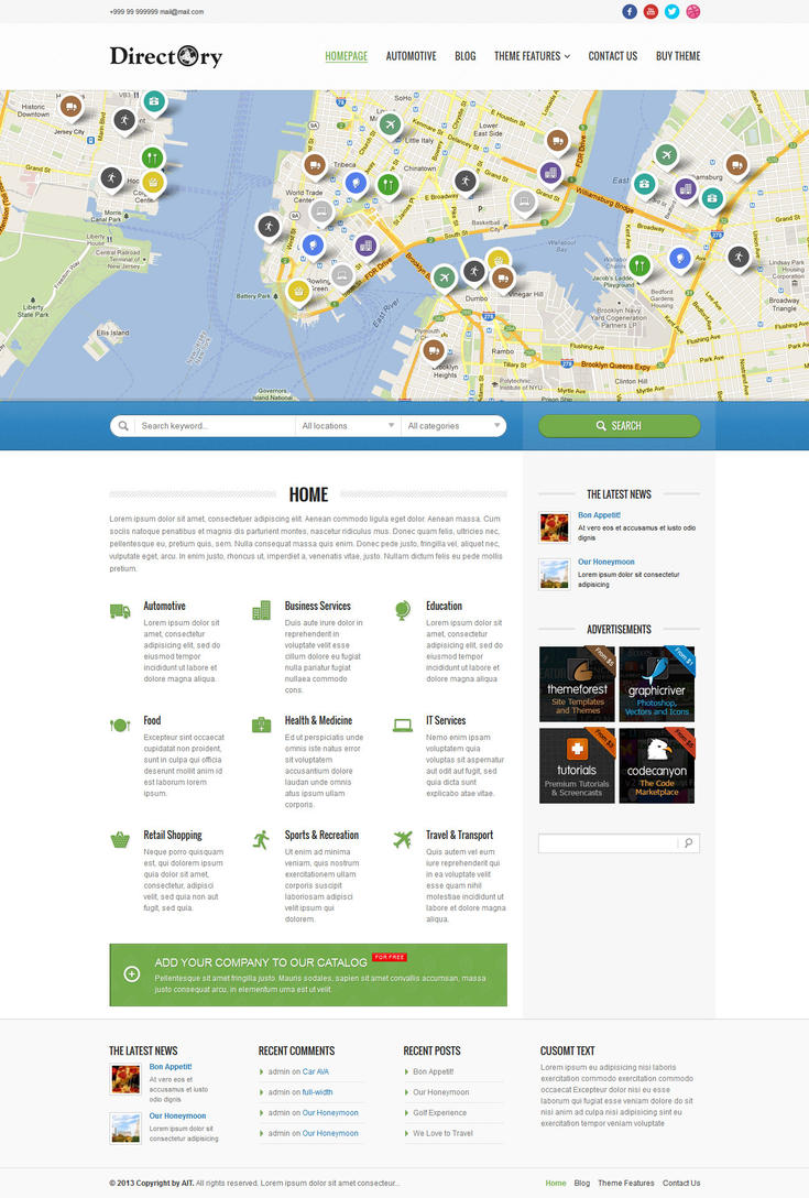 Directory portal wp theme by ait themes on deviantart directory portal wp theme by ait themes cheaphphosting Choice Image