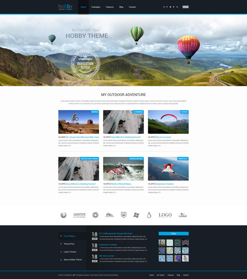 Hobby: Personal Blog WordPress Theme by ait-themes