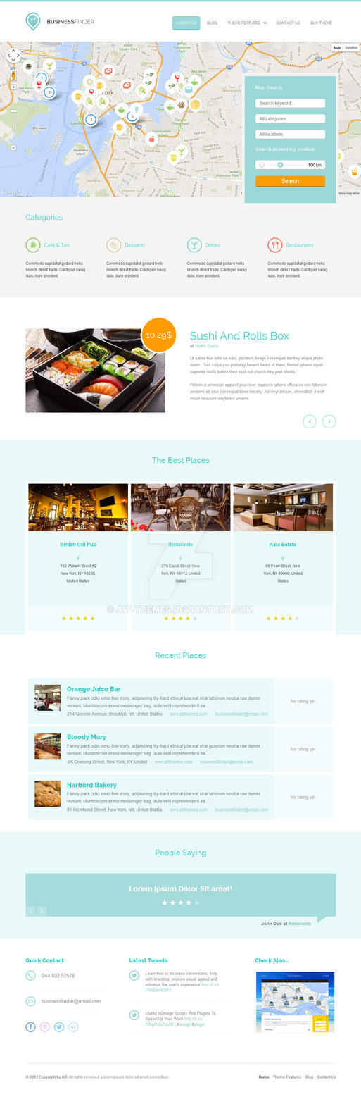 Business Finder: Directory Listing WordPress Theme by ait-themes