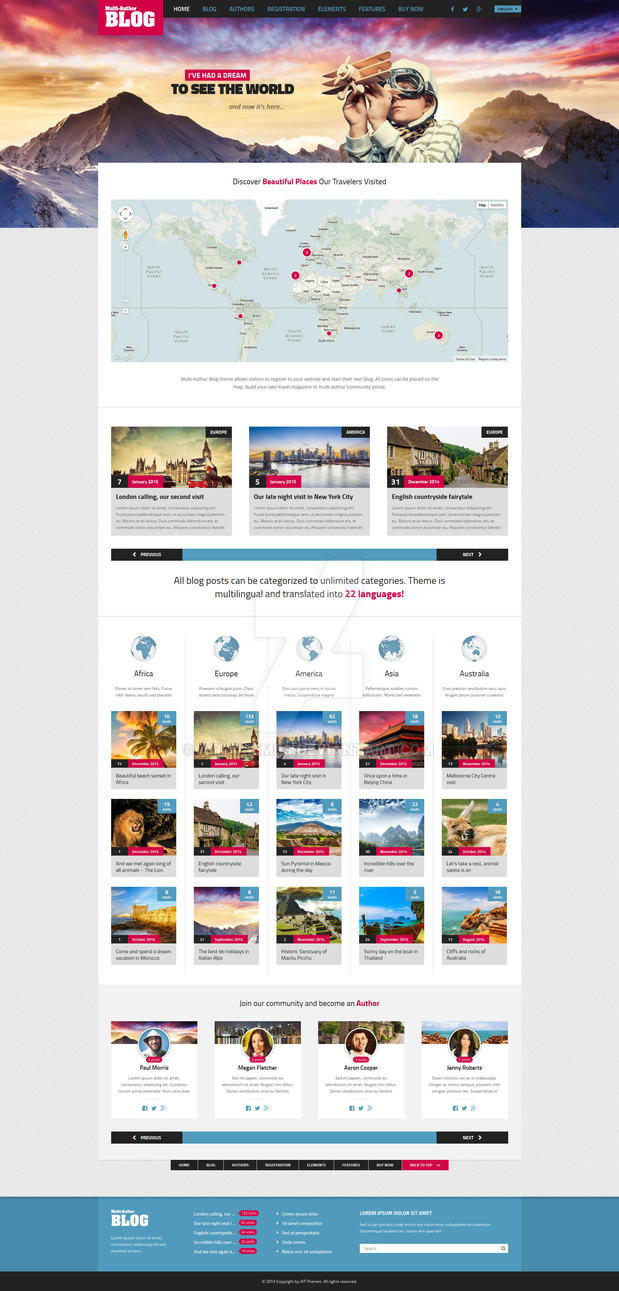 Multi-Author Blog WordPress Responsive Theme