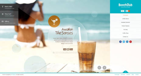 Beachclub - Fullscreen Wordpress Theme