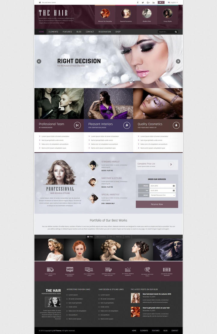 Hair WordPress Theme by ait-themes