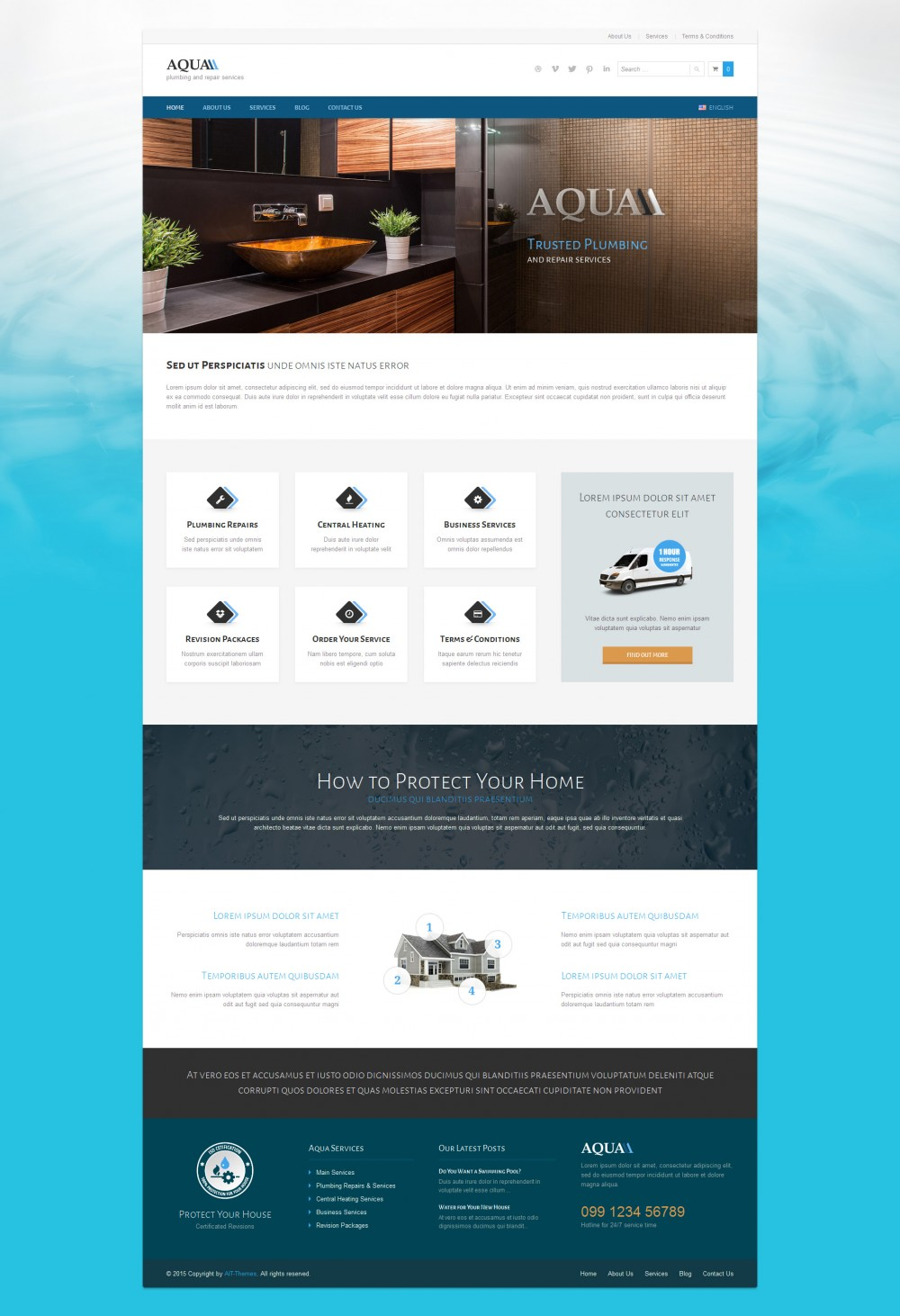 Aqua WordPress Theme for Plumbers by ait-themes