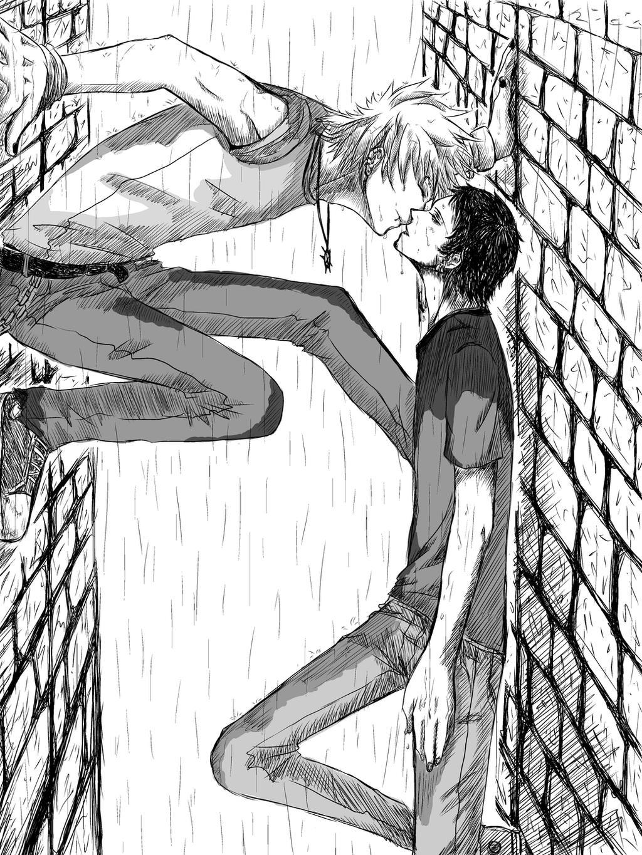 Anime Couple Kiss In Rain - Hot Girls Wallpaper