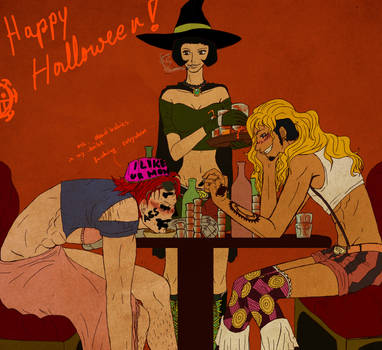 HAPPY HALLOWEEN BITCHES by Beccilein