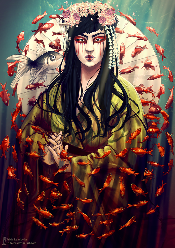 Goldfish geisha by fridouw