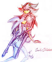 Sonic and Shadow - hugging by alinka
