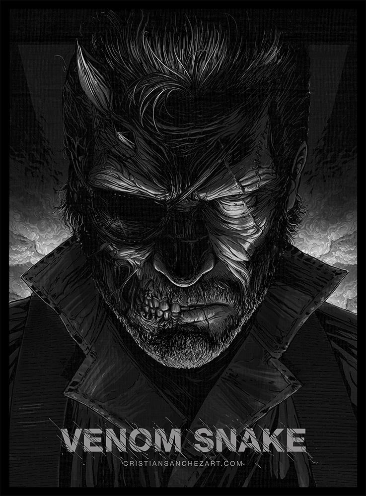 Venom Snake - MetalGearSolid by Cristian Sanchez by Cristiansanchezart