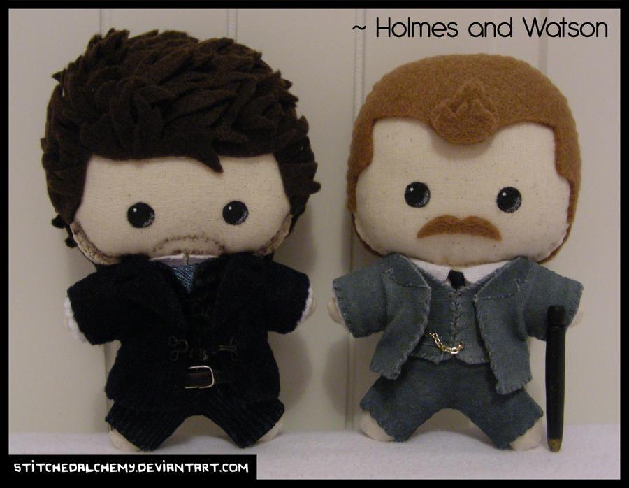 Holmes and Watson Plush Set by StitchedAlchemy