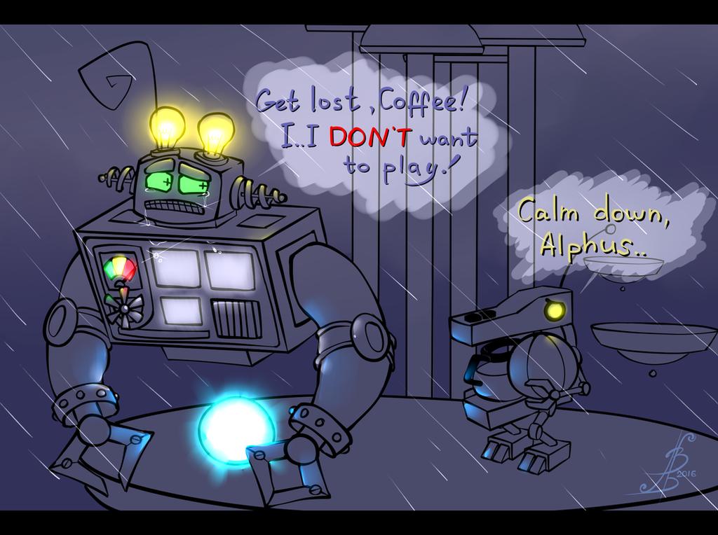 Some sad robot by BobTheTanuki