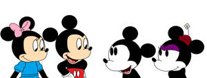Modern and Classic Mickey and Minnie