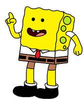 Spongebob in Adventure Time style by Mega-Shonen-One-64