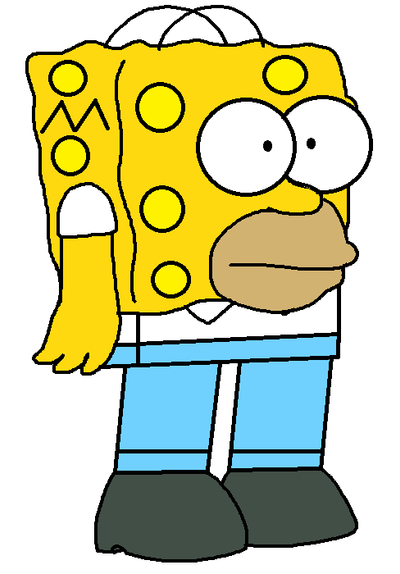 SpongeHomer SimpsonPants by SuperMarcosLucky96