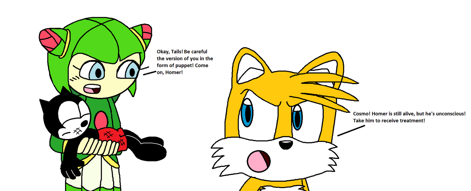 Tails and cosmo comics tails forcing cosmo to leave