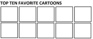 Top Ten Favorite Cartoons by Mega-Shonen-One-64