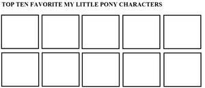 Top Ten Favorite My Little Pony Characters