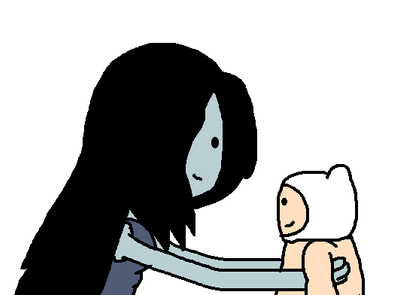 Marceline With Baby Finn by