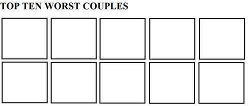 Top Ten Worst Couples by Mega-Shonen-One-64