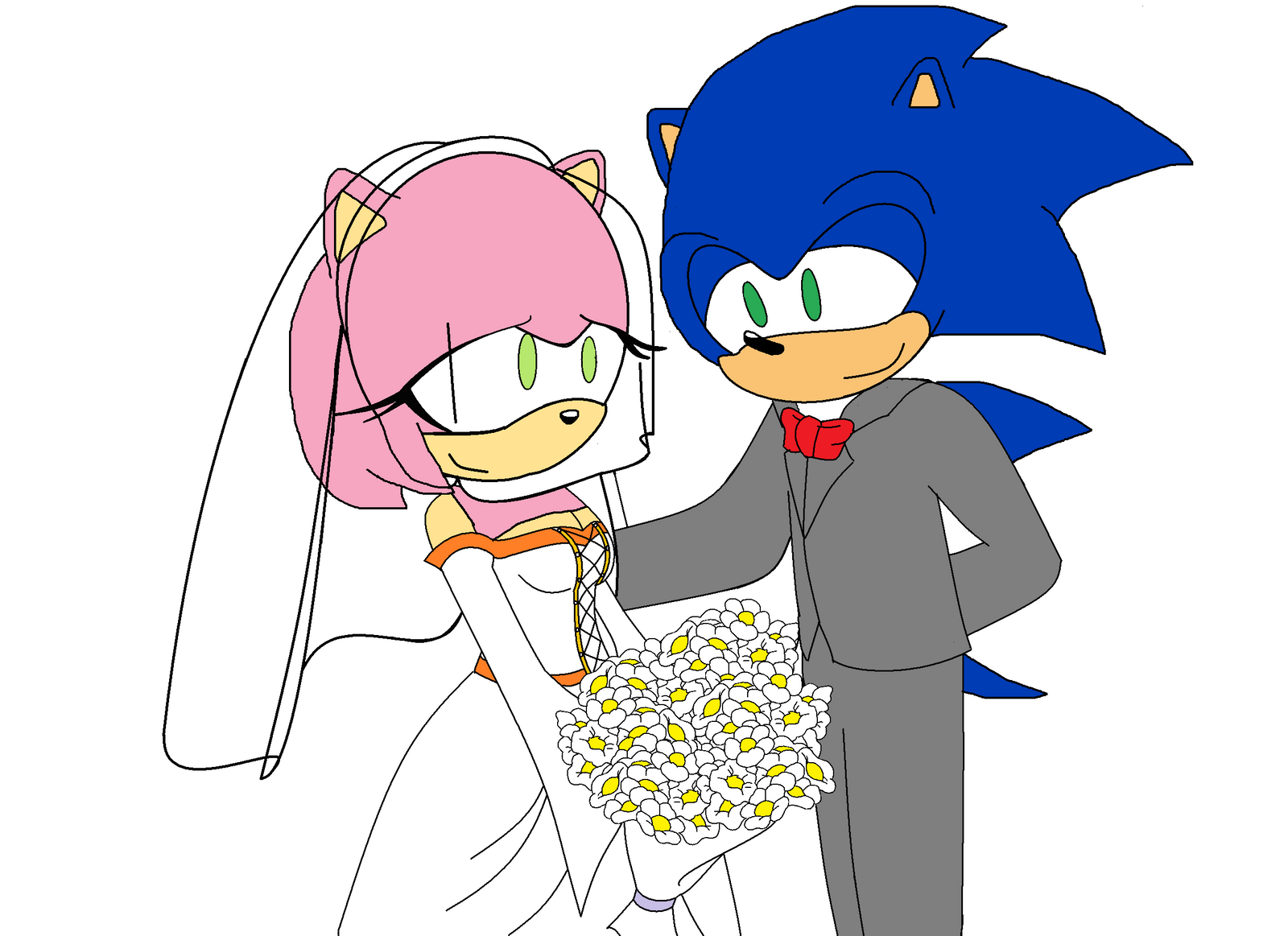 Sonic and Amy's wedding by MarcosPower1996 on DeviantArt  Sonic and Amy&#...