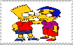 Bart and Millhouse Stamp by ElMarcosLuckydel96