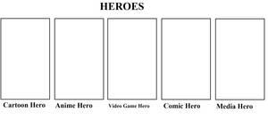 Favorite Heroes Meme by Mega-Shonen-One-64