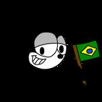 Felix the Cat with Brazilian flag