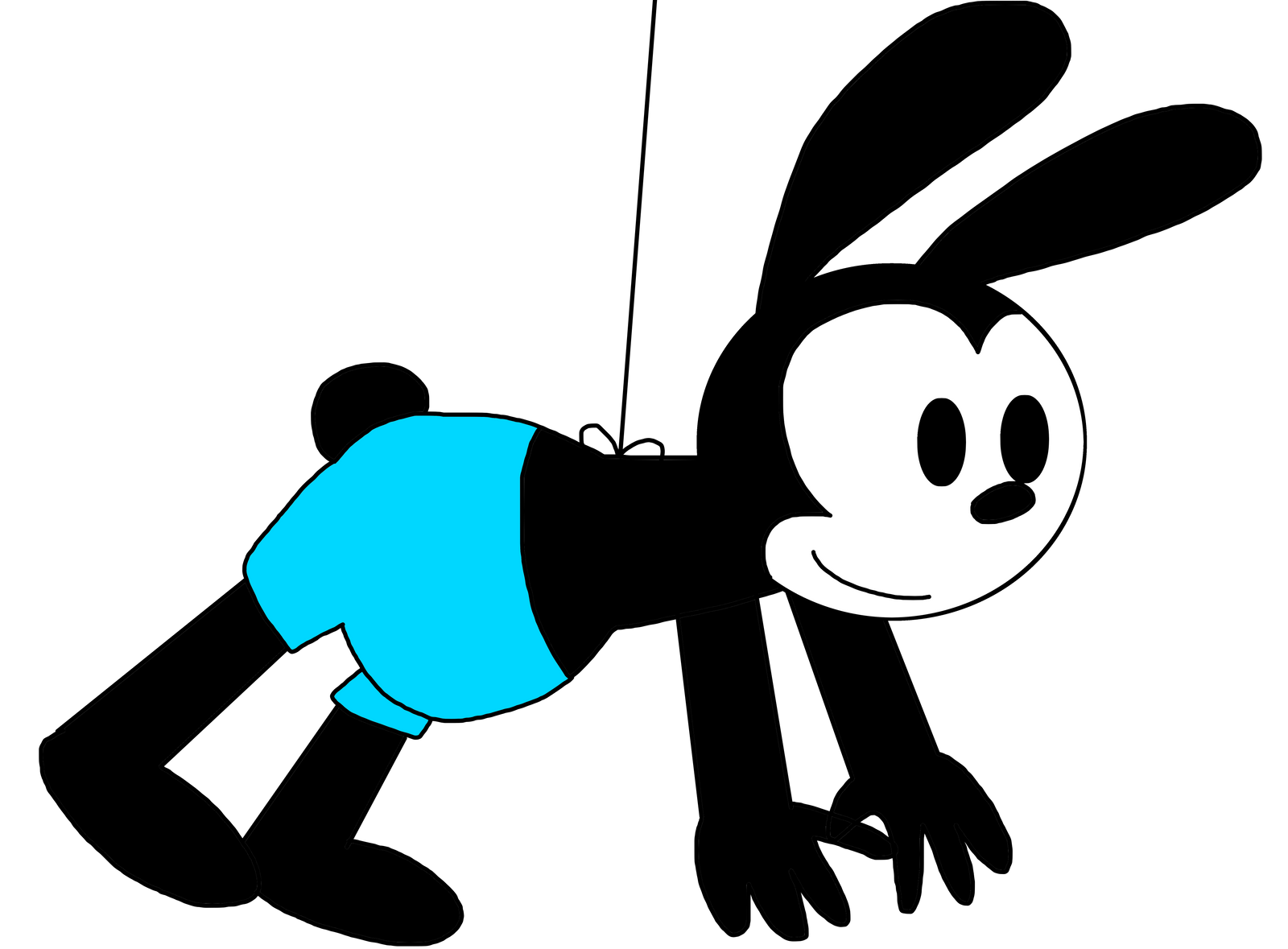 how to draw oswald the lucky rabbit
