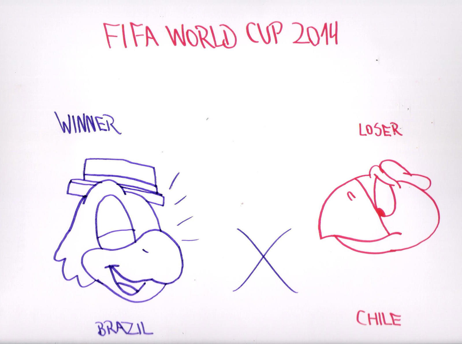 brazil won chile at fifa world cup yesterday by
