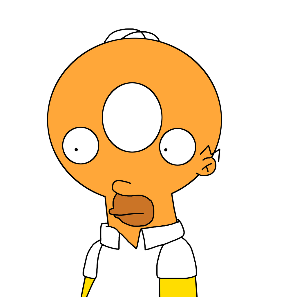 Homer With Donut Head By MarcosPower1996