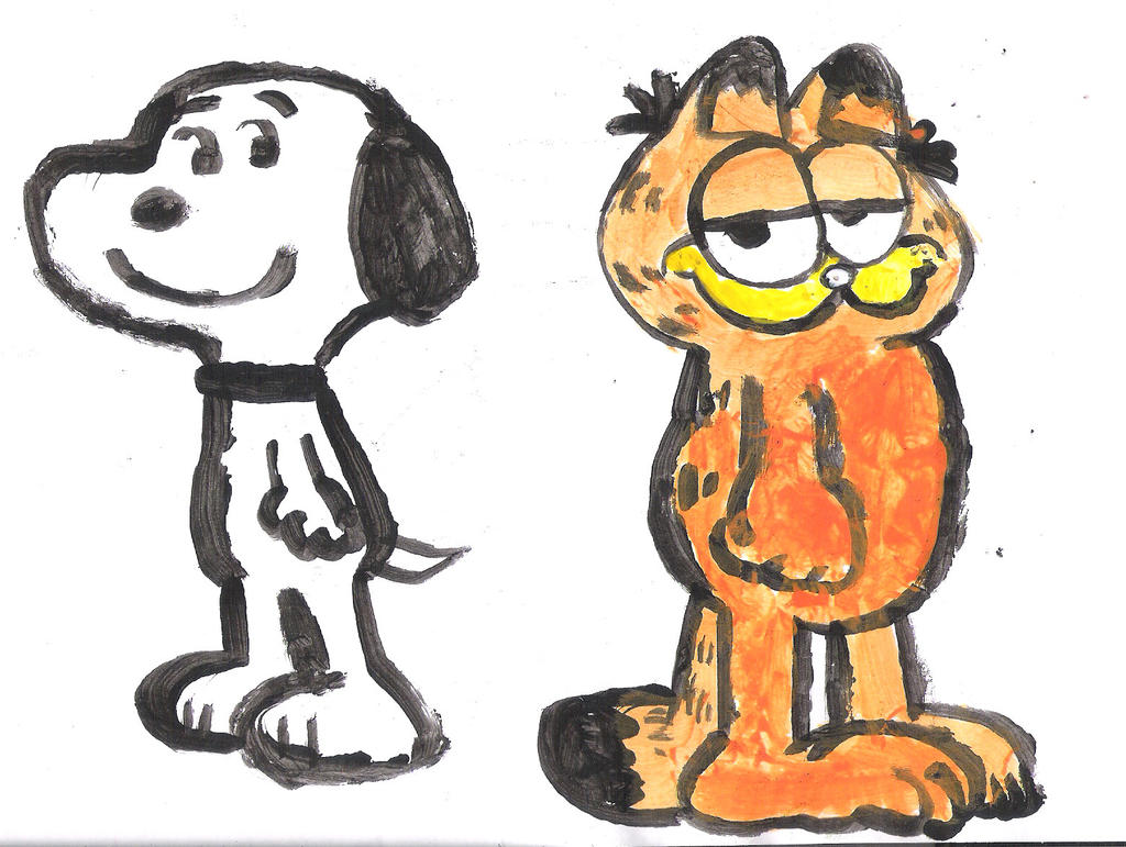 Snoopy and Garfield by MarcosLucky96
