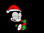 Baby Felix with Christmas gift