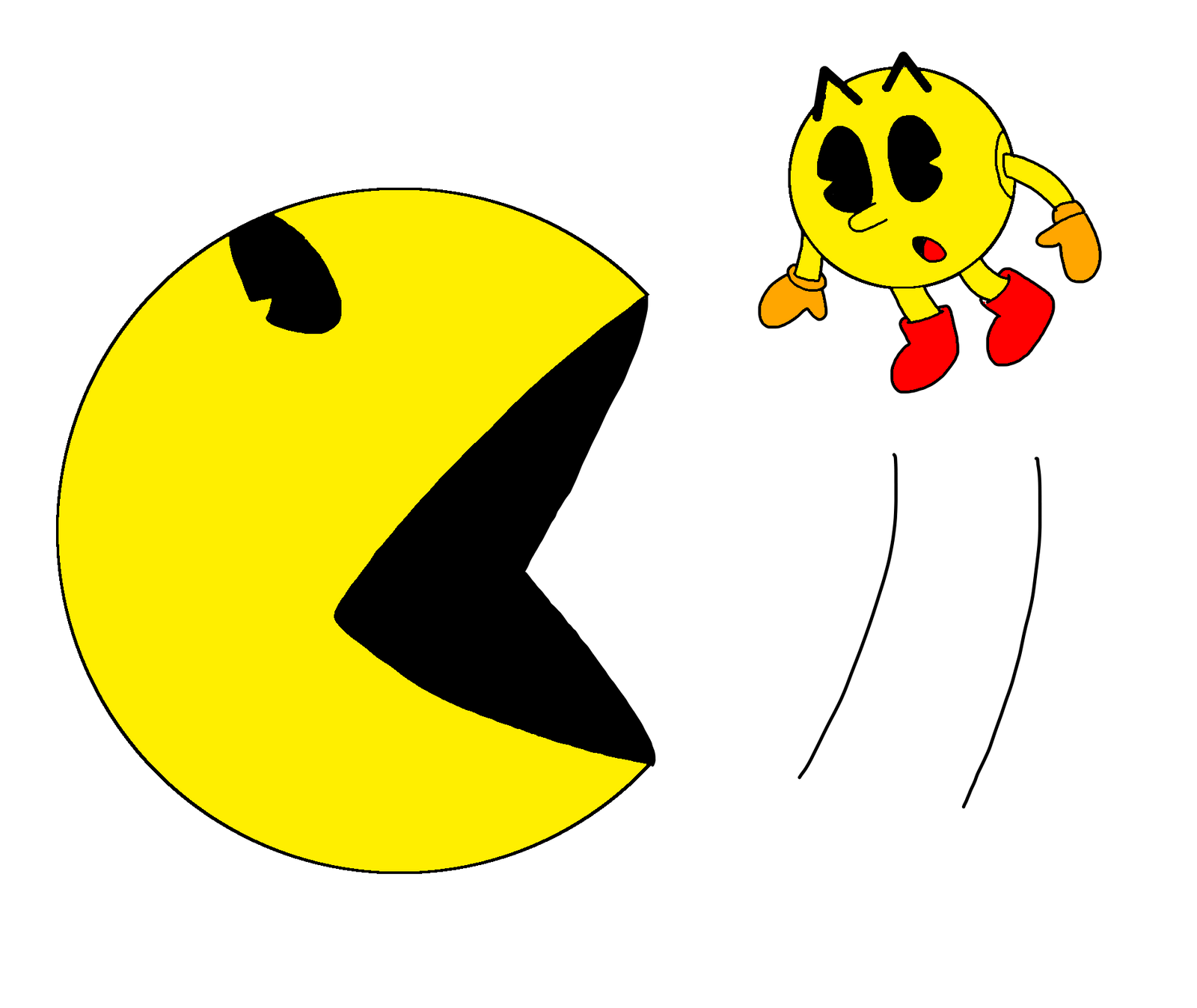 Pac-Man vs. Pixels Pac-Man by MarcosPower1996 on DeviantArt