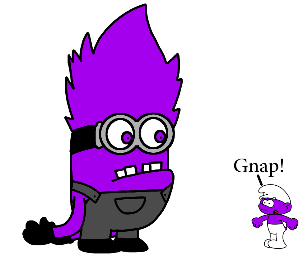 Evil Minion meets Purple Smurf by MarcosPower1996 on ...