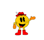 Pac-Man with his Pac-Land Japanese design