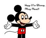 Happy 87th Birthday, Mickey Mouse!!!