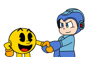 Pac-Man meets Mega Man by Mega-Shonen-One-64