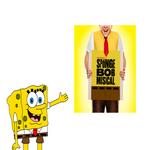 SpongeBob shows the poster of SpongeBob Musical