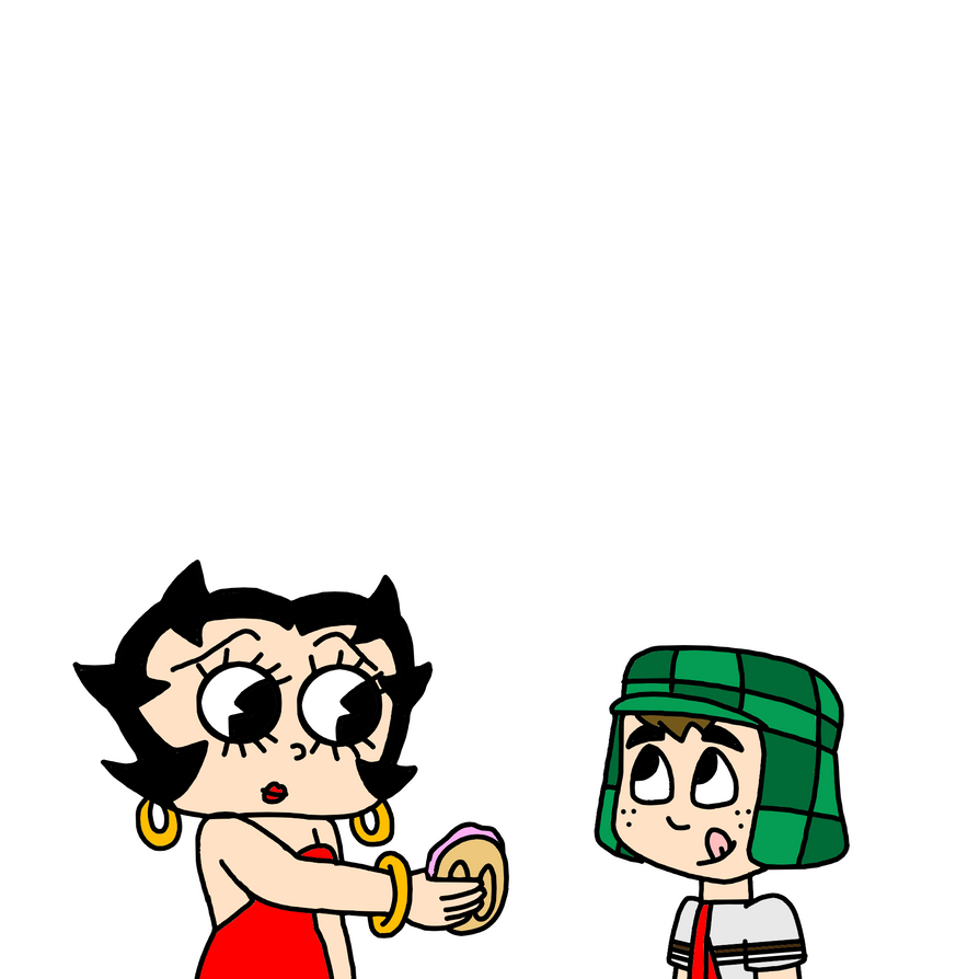 Betty Boop giving Jelly Sandwich to El Chavo by MarcosPower1996 on ...