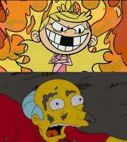Mr. Burns scared of Lola Loud by Mega-Shonen-One-64