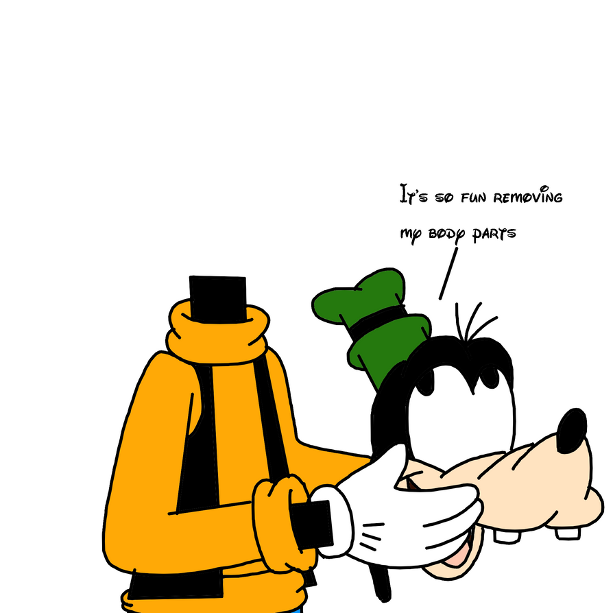 goofy after removing his head by marcospower1996 on deviantart