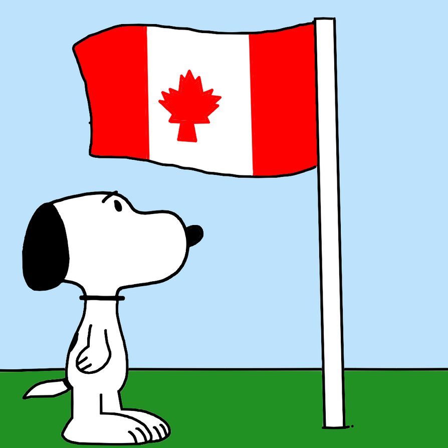snoopy with flag of canada by marcospower1996 on deviantart