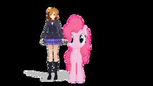 MMD - Honoka Kousaka and Pinkie Pie