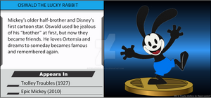 Wii U Trophy - Oswald the Lucky Rabbit